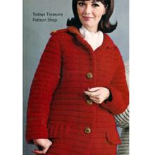 Vintage Coachman Coat Crochet Pattern