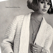 Crochet Cardigan Pattern with Shawl Cardigan