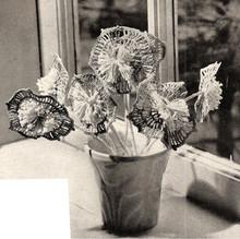 Vintage 1960s Crocheted Flowers Pattern