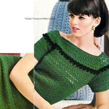Crochet Off Shoulder Dress Pattern