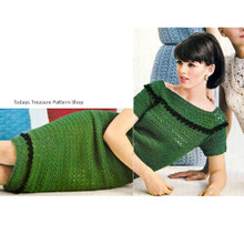 Crochet Dress with Off shoulder Collar pattern