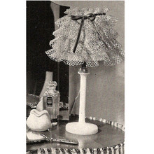 Ruffled Lace Crochet Lamp Shade Pattern