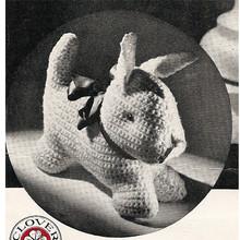 Crocheted Puppy Dog Craft pattern