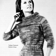 Cowl Neck Knitted Mohair Dress Pattern