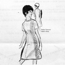 Leaf Panel Dress Knitting pattern Design 501