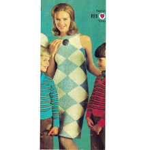 Vintage Argyle Dress Knitting Pattern