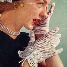 Crochet Butterfly Mesh Gloves Pattern