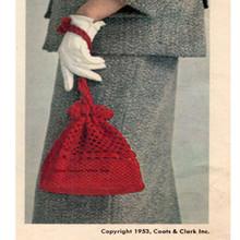 Vintage Crochet Drawstring Bag Pattern