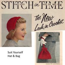 Crochet Half Cap with Drawstring Bag Pattern