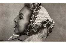 Crocheted Bangle Triangle Scarf, Free Pattern