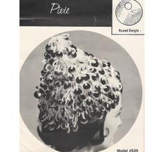 Vintage Pixie Bangle Crochet Hat Pattern