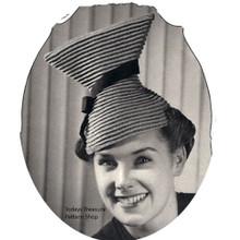 Vintage Hour Glass Crochet Hat Pattern