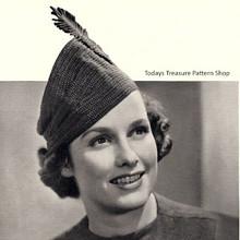 Vintage Crochet Cossack Hat Pattern