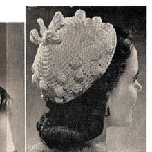 Vintage Beanie Hat pattern with Popcorns