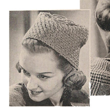 Vintage Crochet Toque Pattern