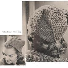 Vintage 1940s Toque Hat Pattern