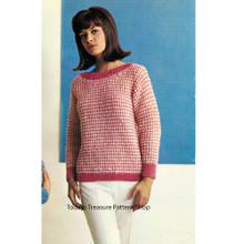Easy Striped Sweater Knitting Pattern