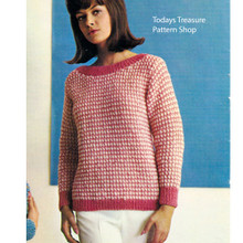 Dawn Knitting Worsted Striped Sweater Pattern