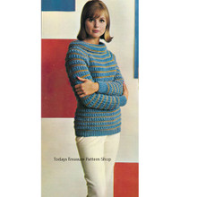 Cowl Neck Sweater Knitting Pattern, Vintage 1960s