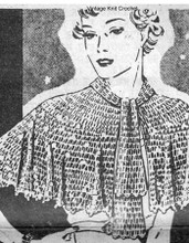Crochet Lace Capelet Pattern,  Alice Brooks 5360