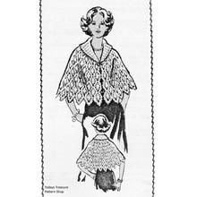 Vintage Pineapple Crochet Cape Pattern, waist length