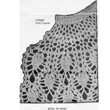 Pineapple Cape Crochet pattern Stitch Illustration, Design 716