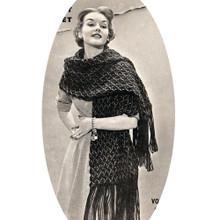 Vintage Shell Stitch Crocheted Stole Pattern