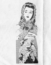 Mail Order Crochet Lace scarf pattern, Laura wheeler 709