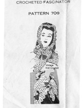 Vintage Crochet Lace Shawl Pattern, Mail Order 709