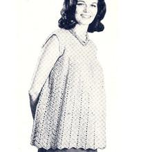 Crochet Maternity Shell Pattern with Chevron Motif
