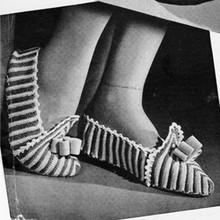 Striped Crochet Slippers Pattern