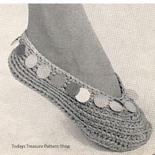 Crochet Bangle Slippers Pattern