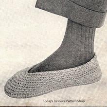 Easy Mans Crochet Slippers Pattern