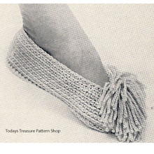 Crocheted Tassle Slippers Pattern