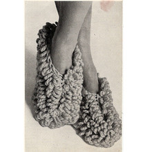 Vintage Loop Stitch Crochet Slippers Pattern