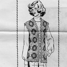 Flower Block Crochet Vest Pattern