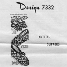Mail Order Design 7332, Knitted Slippers Pattern