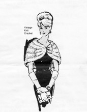 Stole Knitting Pattern, purl bands, Laura Wheeler 828