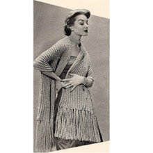 Knitted Rib Stitch Stole Pattern