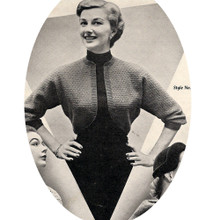 Shrug Knitting Pattern with Three Quarter Sleeves