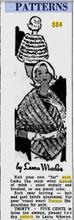 Lara Wheeler 586, Knitted Stole Advertisement
