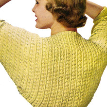 Long Sleeve Shrug Knitting Pattern