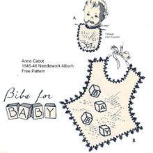 Crochet Edging for Baby Bibs, Anne Cabot Mail Order Give-away