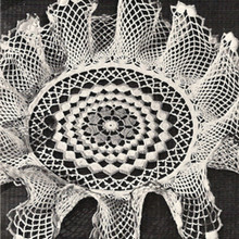 Free Crochet Pattern, Small Ruffled Doily