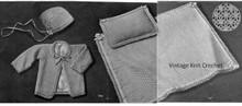 Vintage Crochet Baby Layette in Perlette Yarn