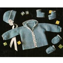 Blue Baby Layette Crochet Pattern