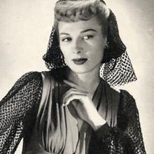 Vintage Mesh Wimple, Free Crochet Pattern