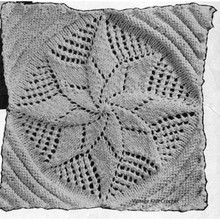 Knitting Pattern, Pinwheel Square