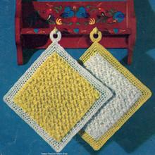 Stitch in Time Crochet Potholders Pattern