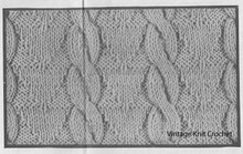 Cabled Pullover Knitted Pattern Stitch